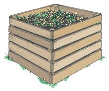 Clip art depicting the pallet holding system composting method.