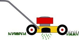 Clip art depicting the grass-cycling composting method.