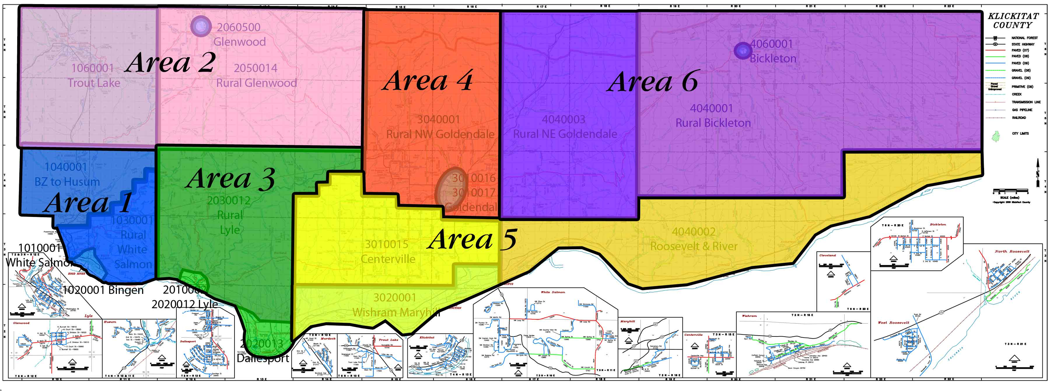 Klickitat County Appraisal Areas