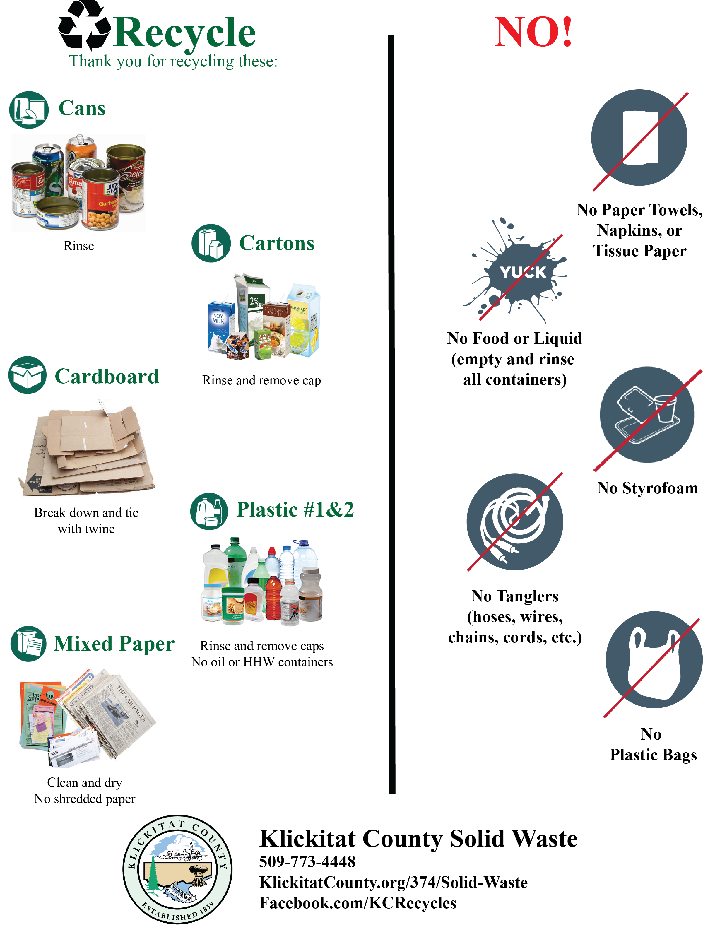 2019 Recycling Newsletter list